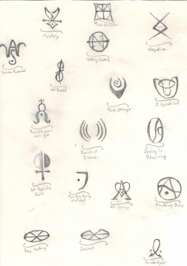 Emily The Strange Symbols By Soraelna On Deviantart