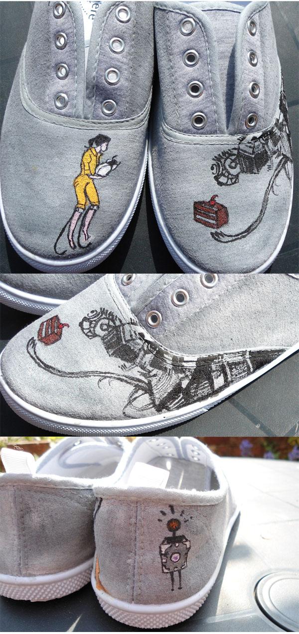 Portal 2 Shoes by rocketjumpwaltz