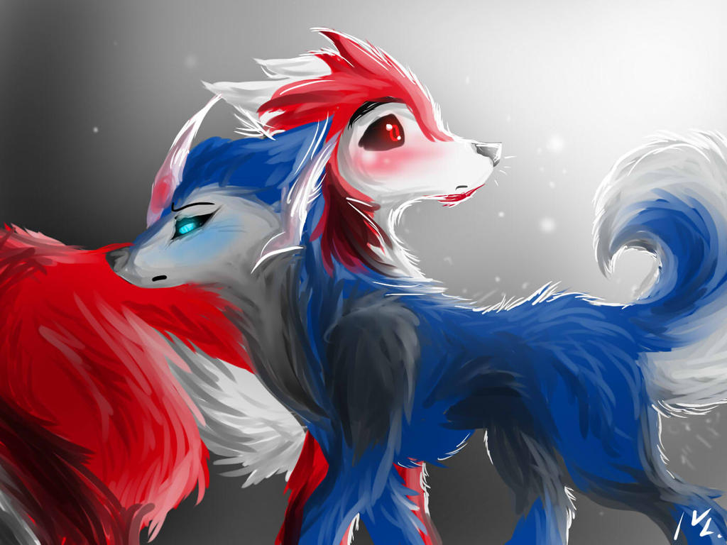 Arcee and Knockout as Canines by Sn0wyAnGel on DeviantArt