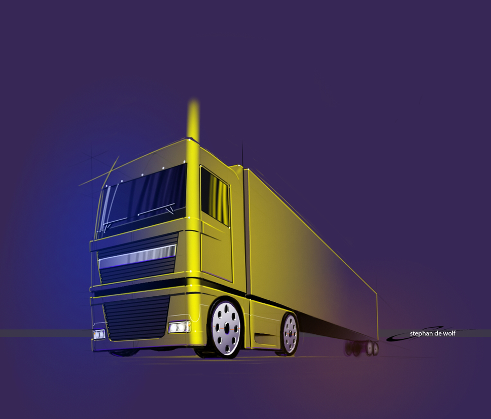 Big yellow truck by w0lfb0i