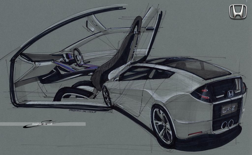 Honda CR-Z sketch by w0lfb0i