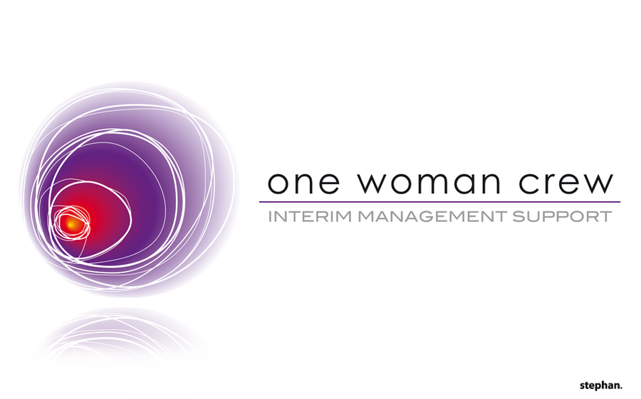 one woman crew logo by w0lfb0i
