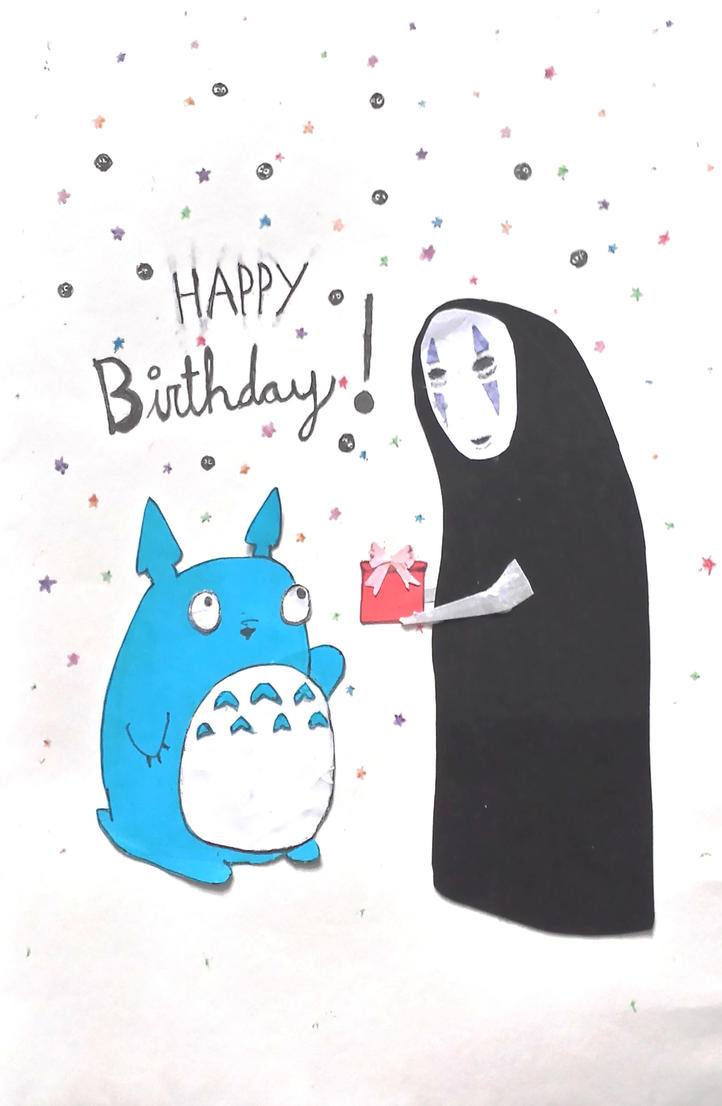 Happy Birthday My Neighbor Totoro by bunsun on DeviantArt – Totoro Birthday Card