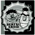 bert and ernie bottle cap by bountyhunter25