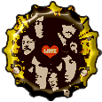 The Beatles bottle cap by bountyhunter25