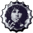 Jim Morrison bottle cap by bountyhunter25