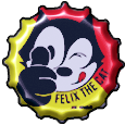 Felix The Cat Bottle Cap by bountyhunter25