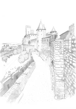 View of Carcassonne Fortification
