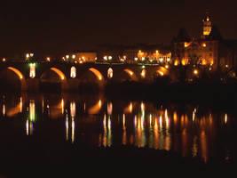 Pont Vieux by night by Ceridwenn