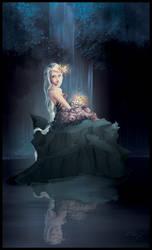 Lady of the Lake coloured by EwaGeruzel