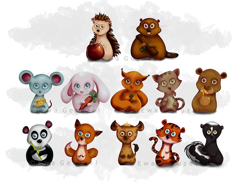 Cute animals by EwaGeruzel