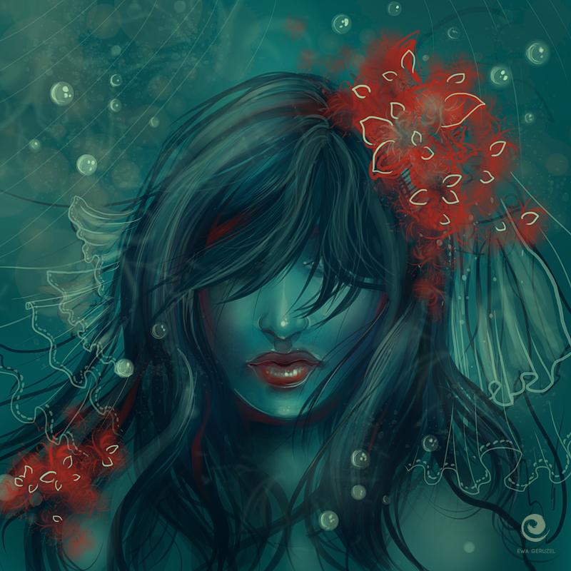 Red flowers by EwaGeruzel
