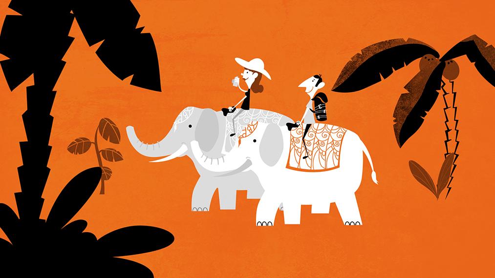 Elephant travel by EwaGeruzel