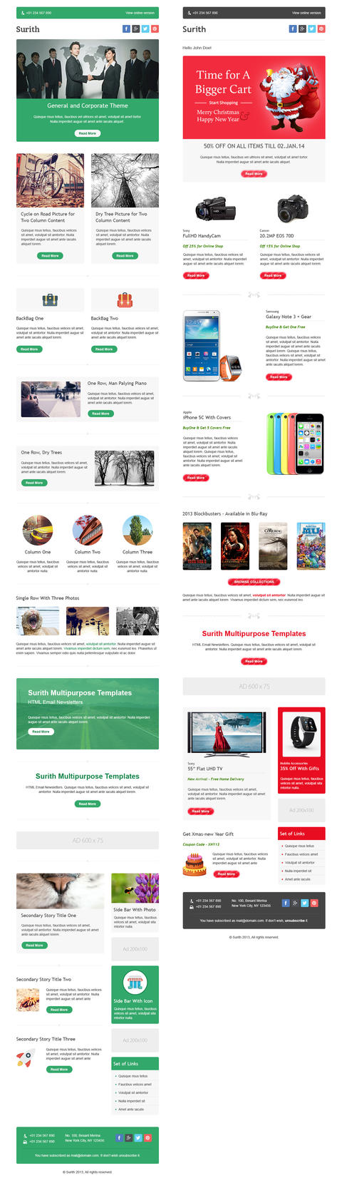 Surith multipurpose email newsletter templates by for Cool mailchimp templates
