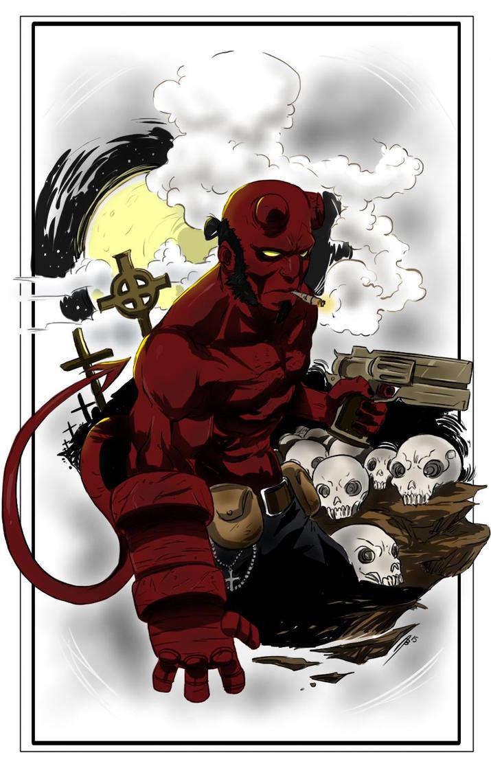 Hellboy by Dericules