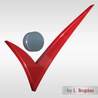 red 3D logo by Bogdan17