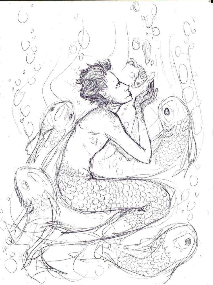 -sketch- fisch menschen