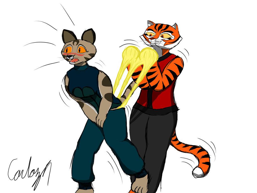 Tigresa haciendole calzon chino a Mei Ling by the-killer-wc