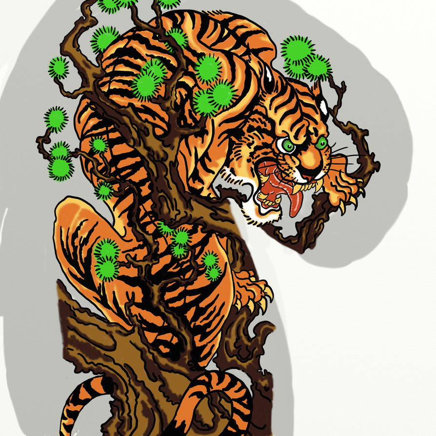 JAPANESE TIGER by VinzSachaTraditional Japanese Tiger Tattoos