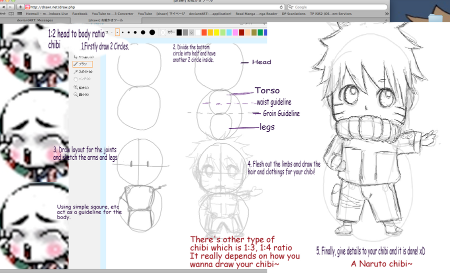 Tutorial 1 3 how to draw chibis by ragginess