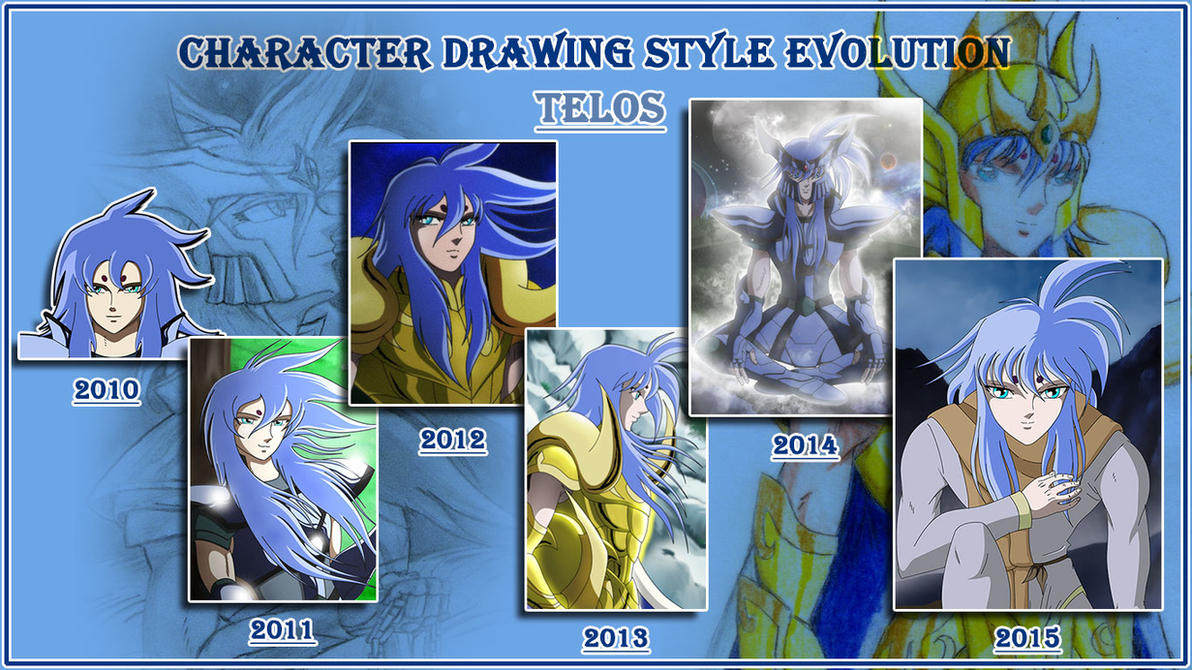 Drawing style evolution - Telos by MuerteRigurosa