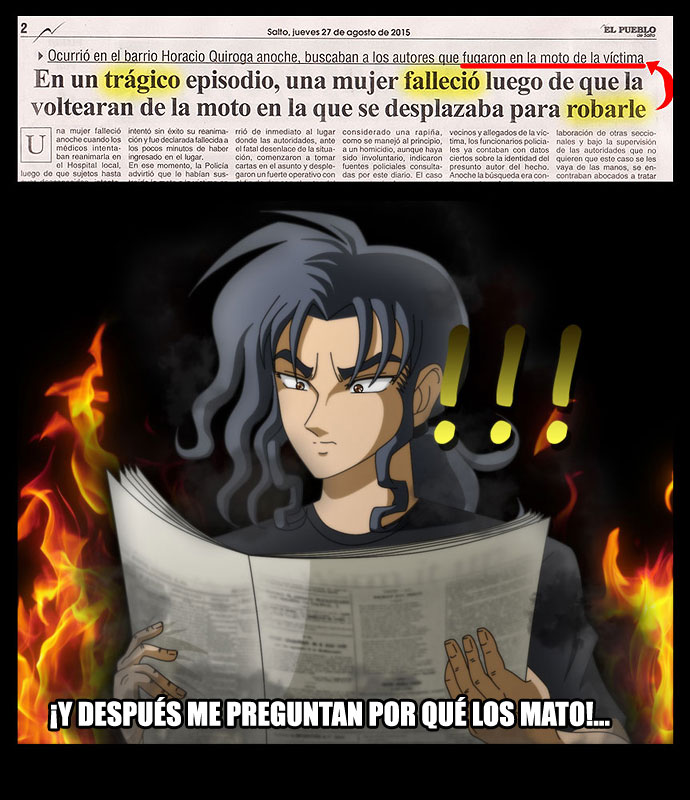 Meme- Leyendo diario, Juan. by MuerteRigurosa