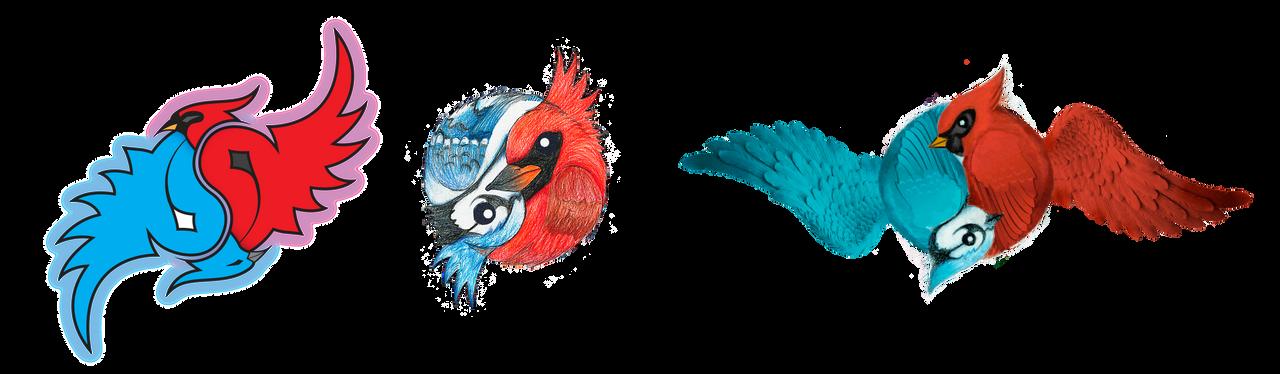 Blue Jay and Cardinal YinYang