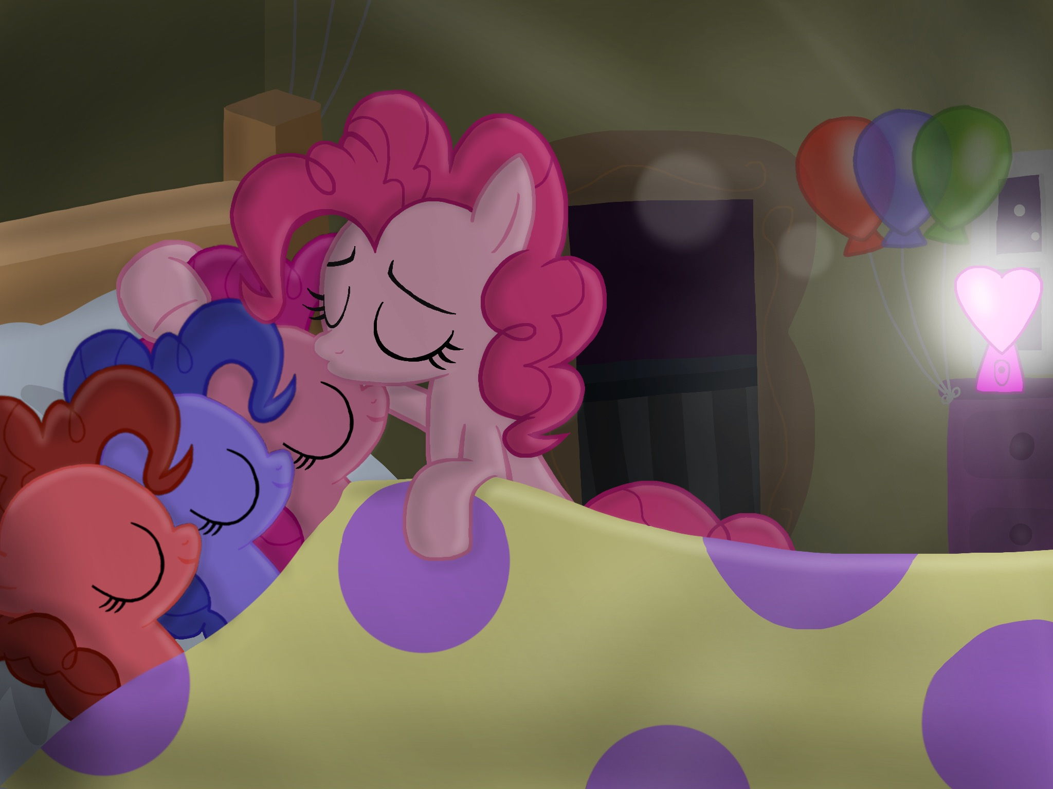 Daughter Of Discord Pinkie S Goodnight Kiss By