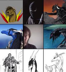Art vs artist meme by Erredan