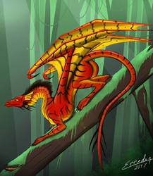 Red forest dragon for meme by Erredan