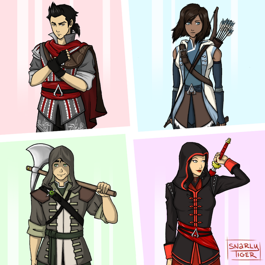 Team Avatar: Team Avatar Assassins By Snarly-tiger On DeviantArt