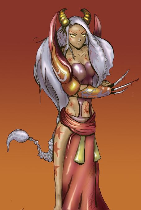 Horny girl by Ex-zaria