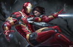 Civil War-fan art Iron Man VS Winter Soldier
