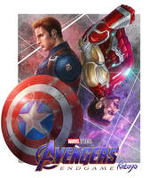 Avengers captain america iron man by katoyo