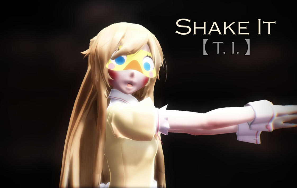 3d mmd shake it off with 2 short hair girls 10