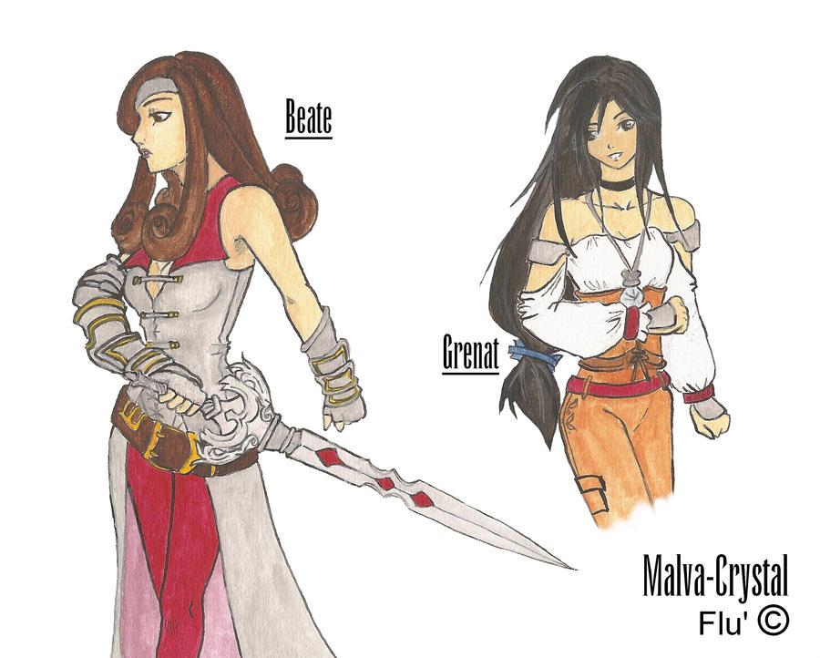FFIX Sketch  Beate And Garnet By Malva Crystal On DeviantArt