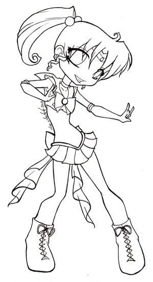 Chibi Sailor Jupiter . lineart