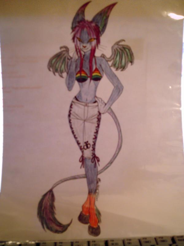Fursona-anthro by Gizmo-The-Freaky