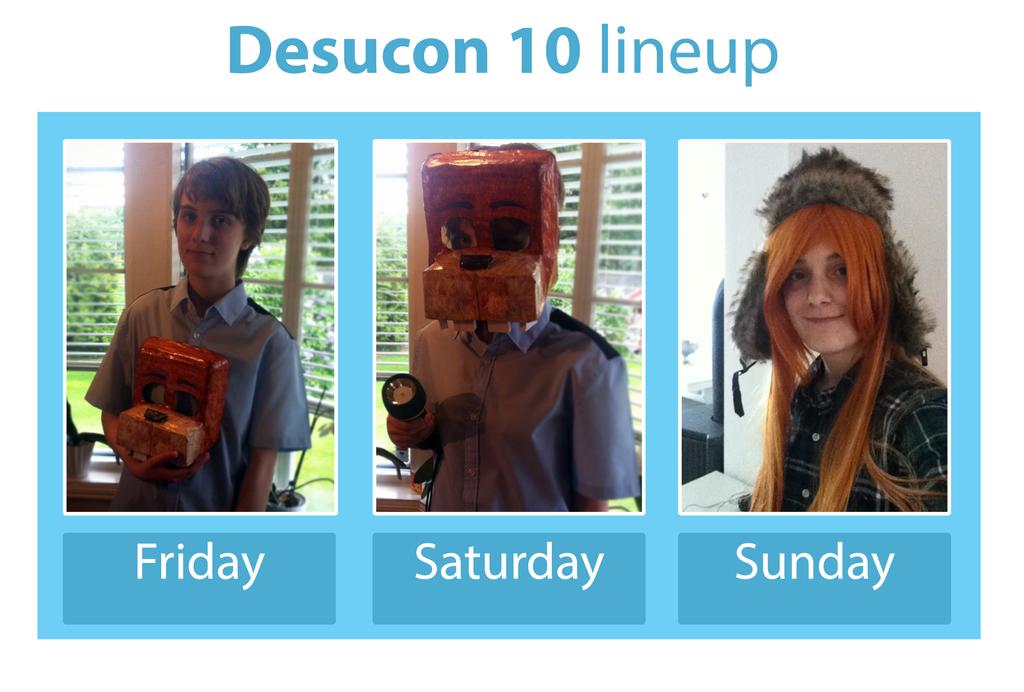 Desucon 10 Lineup by DominoBear