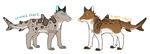 Shark dog adopts [1/2 OPEN] by DominoBear