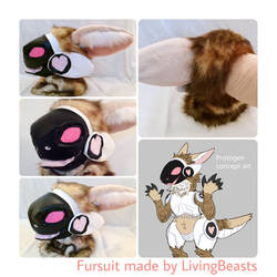 Protogen fursuit head [for sale] by DominoBear