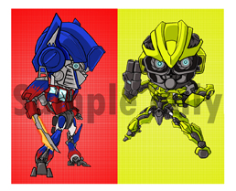 Optimus Prime n Bumblebee by DreamTeamers