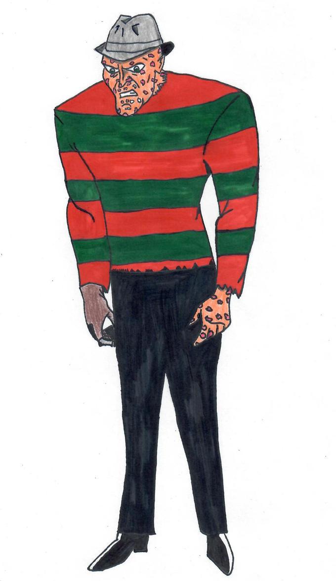 Freddy Krueger (Animated Style) by ElvisPresleyFan3577