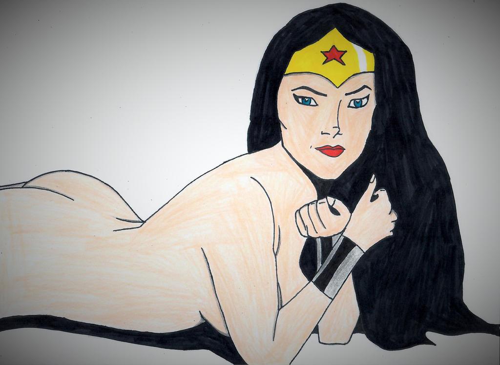 Naked Wonder Woman by ElvisPresleyFan3577