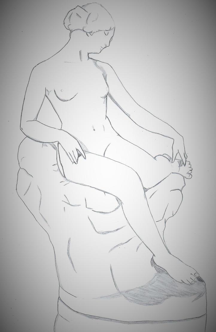 Statue drawing by ElvisPresleyFan3577