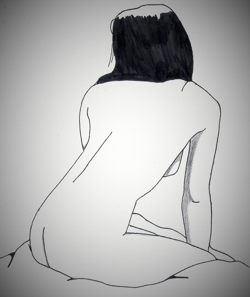 Nude woman sitting by ElvisPresleyFan3577