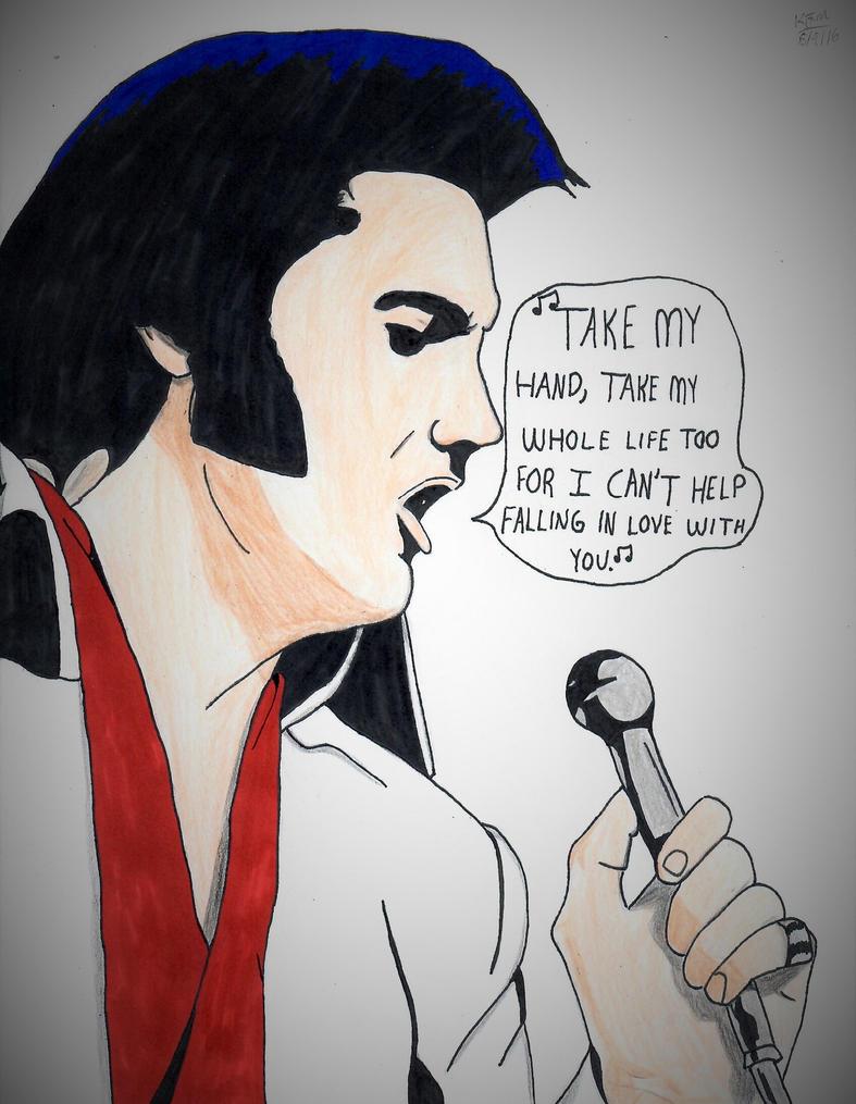 Elvis singing Can't Help Falling in Love by ElvisPresleyFan3577