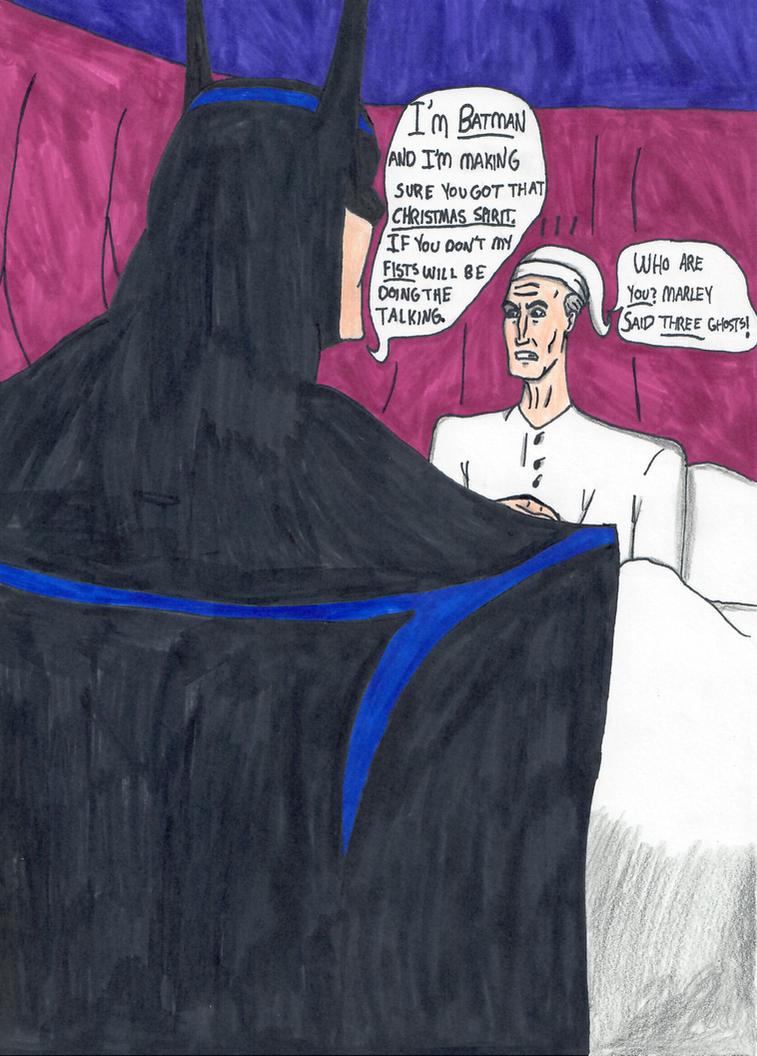 Batman pays Scrooge a visit by ElvisPresleyFan3577