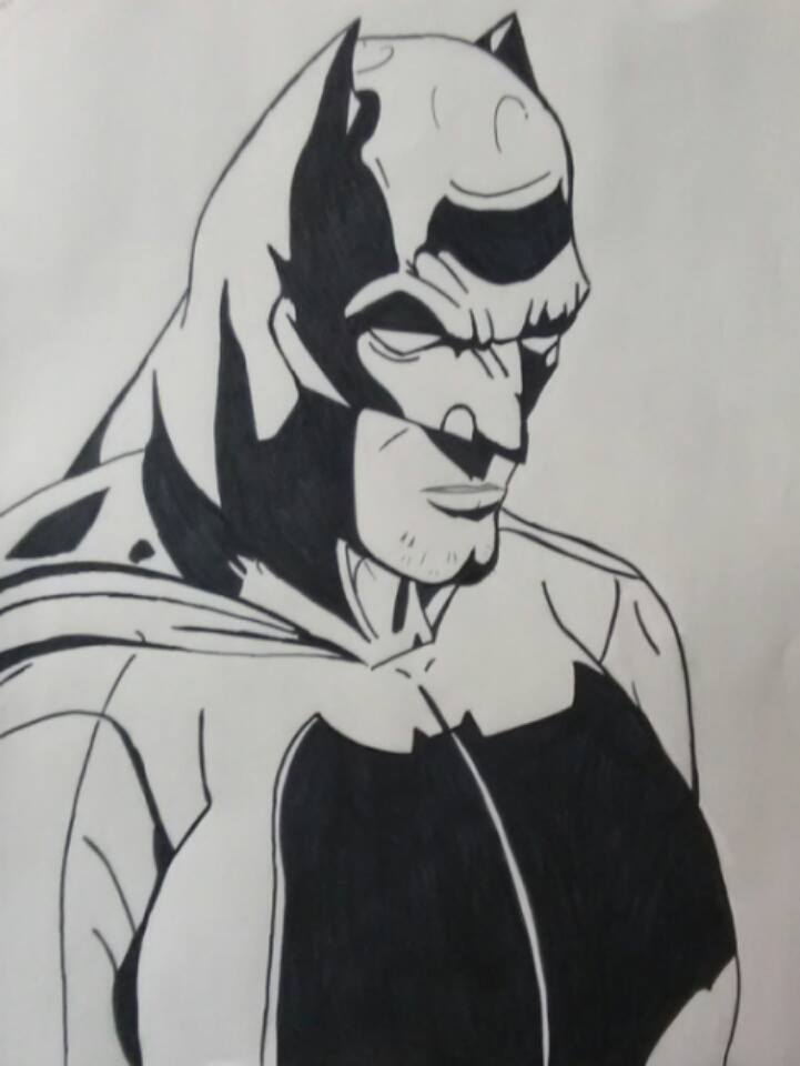 Batman portrait by ElvisPresleyFan3577