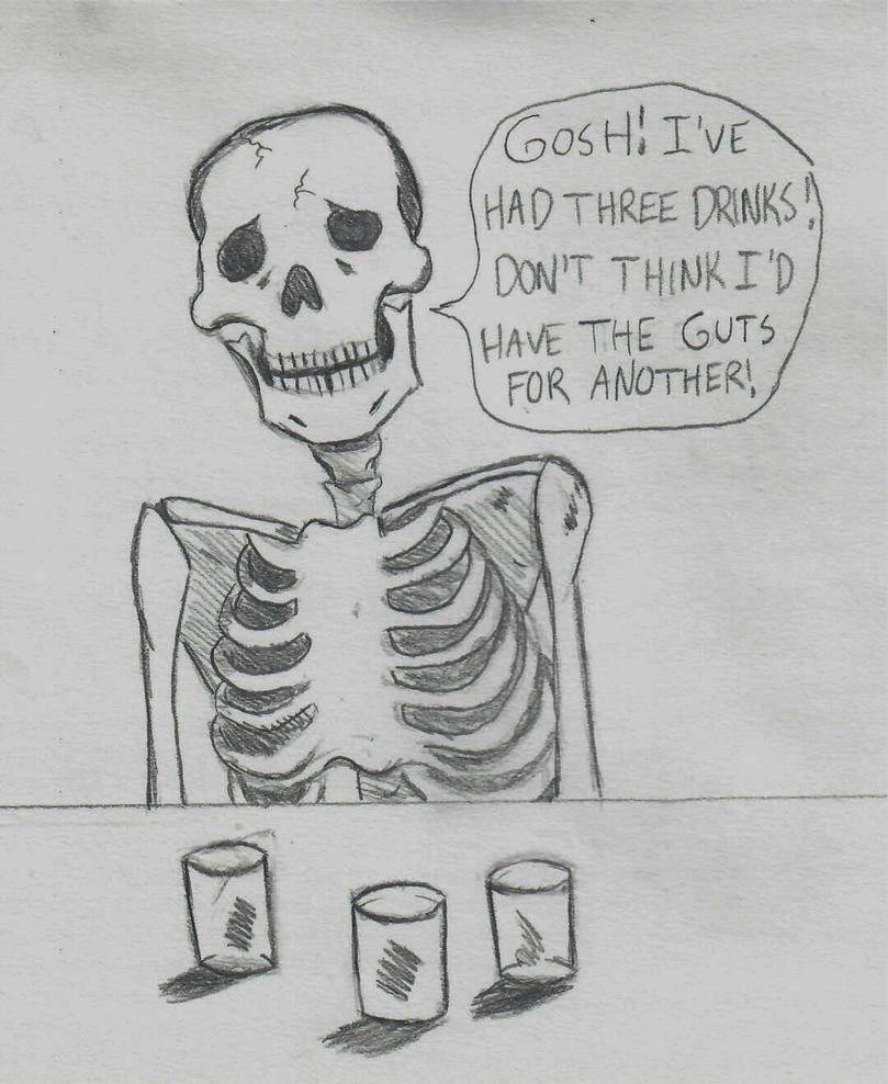 Skeleton at a Bar by ElvisPresleyFan3577